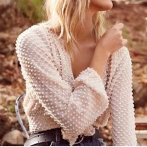 ISO Free People Stay It Together Dot Blouse M/L